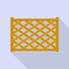 Wood fence icon. Flat illustration of wood fence vector icon for web design