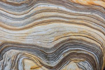 banded sedimentary rock