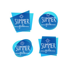 season sale, water vector discount banner template design with doodle lettering composition