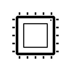 chip isolated minimal icon. Processor line vector icon for websites and mobile minimalistic flat design
