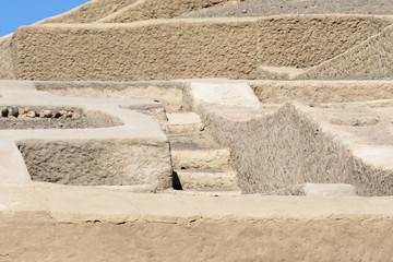 Adobe pyramid at Cahuachi, the main ceremonial center of Nazca culture, Peru