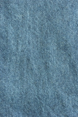 Old blue denim jeans texture or background with visible fibers