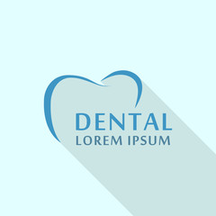 Dental abstract logo icon. Flat illustration of dental abstract vector logo icon for web design