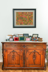 Retro sideboard, cabinet in a dinning room, country style.