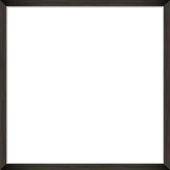 Square Blank framed poster on grey wall. Vector template