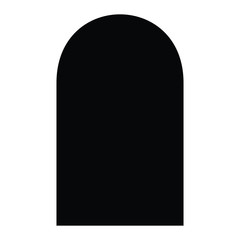 A black and white silhouette of a gravestone