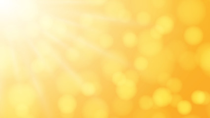 Orange abstract background with glare and sunlight. Vector illustration