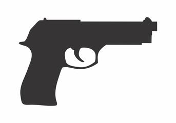 Gun dark silhouette