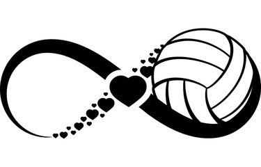 volleyball love infinity Wall mural