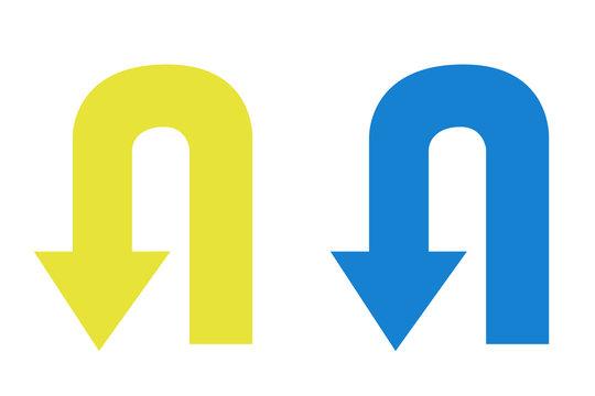 Flechas de diferentes colores.