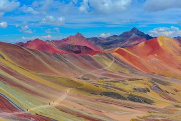 Foto auf Gartenposter Gebirge Vinicunca, also known as Rainbow Mountain, near Cusco, Peru