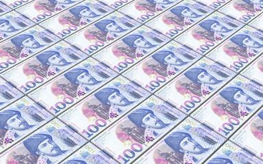 Georgian lari bills stacks background. Computer generated 3D illustration.