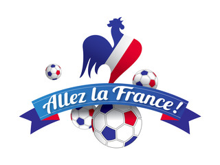 ALLEZ LA FRANCE avec coq (copieur: guillaume_photo)