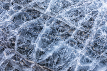Ice pattern on a glacier in Spitsbergen, Svalbard, Norway