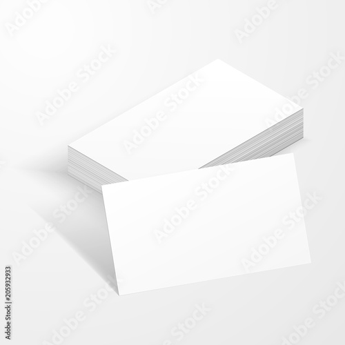 Business Cards Blank Mockup Template Created By Vector Stock Image