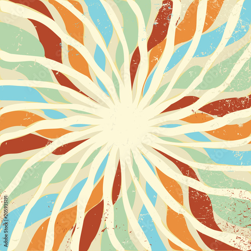 Abstract Beige Swirl Background Vector In Retro Color Palette Of