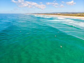 Australian Coastline with Surfers