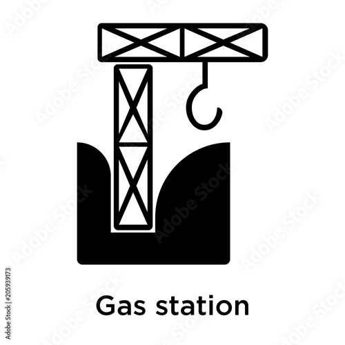 Gas Station Icon Vector Sign And Symbol Isolated On White Background