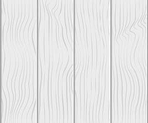 Vector Illustration. Wood texture for decoration. Timber white background with horizont planks for design