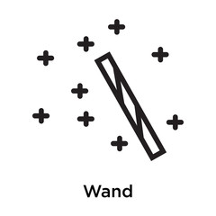 Wand icon vector sign and symbol isolated on white background