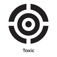 Toxic icon vector sign and symbol isolated on white background