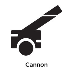 Cannon icon vector sign and symbol isolated on white background