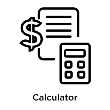 Calculator icon vector sign and symbol isolated on white background
