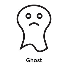 Ghost icon vector sign and symbol isolated on white background