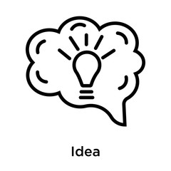 Idea icon vector sign and symbol isolated on white background