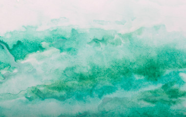 abstract green watercolor splash stroke background