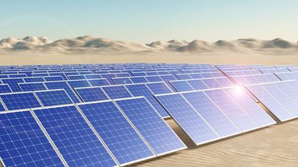 Solarpark in Wüstenlandschaft