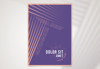 Event Poster Layout with Repeating Line Elements