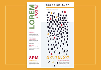 Event Poster Layout with Abstract Elements