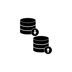 loading and unloading icon. Element of web icon for mobile concept and web apps. Isolated loading and unloading icon can be used for web and mobile