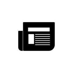 newspaper icon. Element of web icon for mobile concept and web apps. Isolated newspaper icon can be used for web and mobile