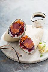 Sushi burrito with ginger