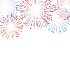 Holiday firework. Independence day of America. Vector