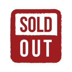 Sold Out Stamp Logo