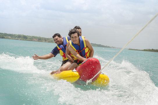Exciting banana surf ride