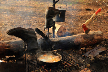 Real tourism,fried eggs at the stake