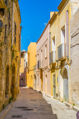View of a narrow street in Marsala, Sicily, Italy