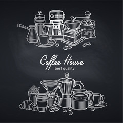 Banner template coffee page design with