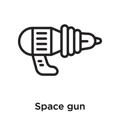 Space gun icon vector sign and symbol isolated on white background