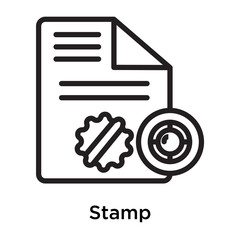 Stamp icon vector sign and symbol isolated on white background