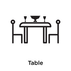 Table icon isolated on white background