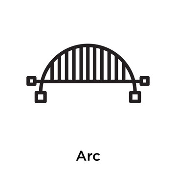 Arc icon vector sign and symbol isolated on white background