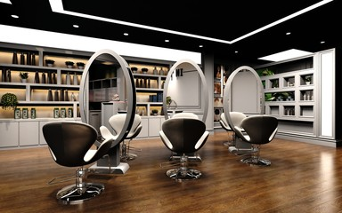 3d render of beauty shop