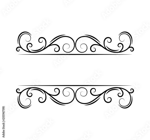 decorative page divider ornate border swirls scroll elements