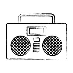 Boombox stereo icon over white background, vector illustration