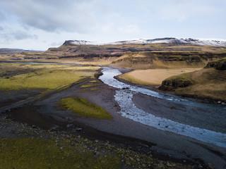 Aerial View below Vatnajökull glacier, Iceland